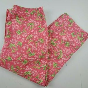 Lilly Pulitzer Pink Shorts All Over Palm Trees